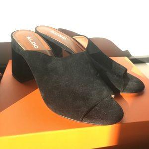 Aldo Shoes - Black suede mules